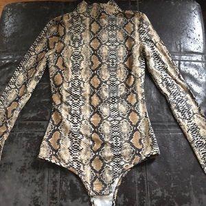 I am GIA snake print bodysuit